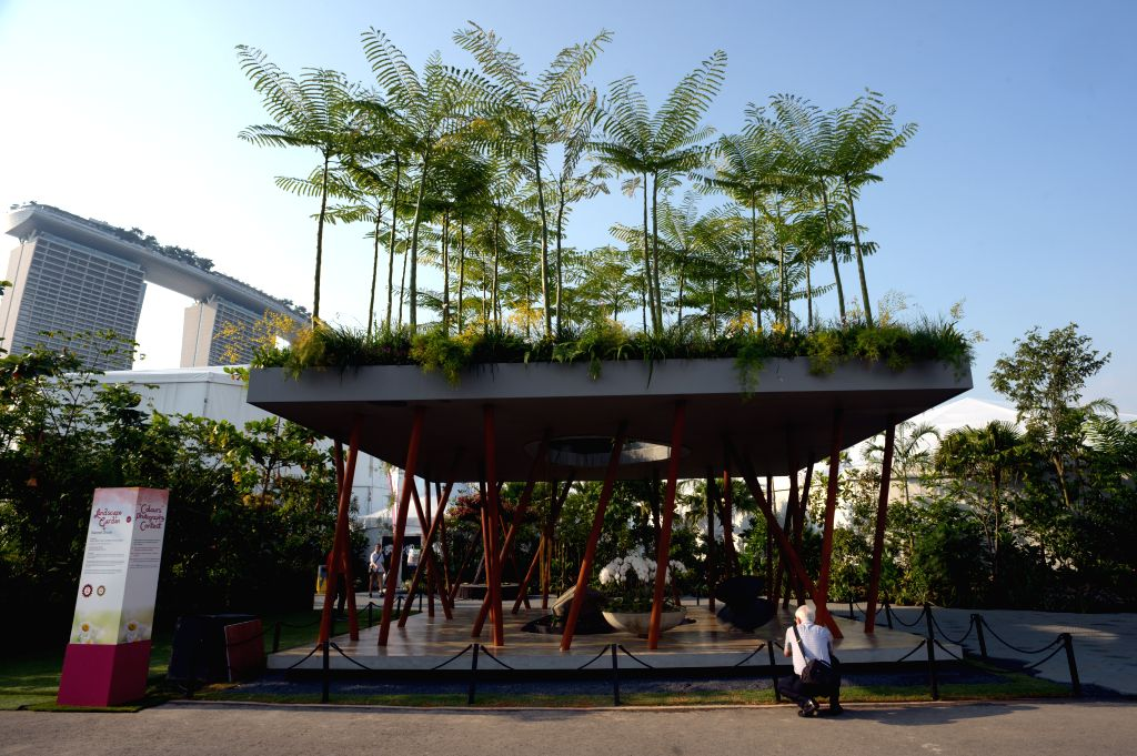 Photo taken on Aug. 18, 2014 shows the Singapore Garden Festival held in Singapore's Gardens by the Bay.