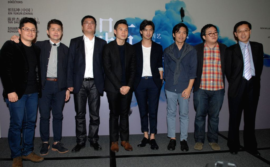 Executive producer Anthony Chan (4th L), known for the award-winning film Ilo Ilo, and leading actor Bolin Chen (4th R), attend a press conference to announce the plan to produce the film . - Bolin Chen