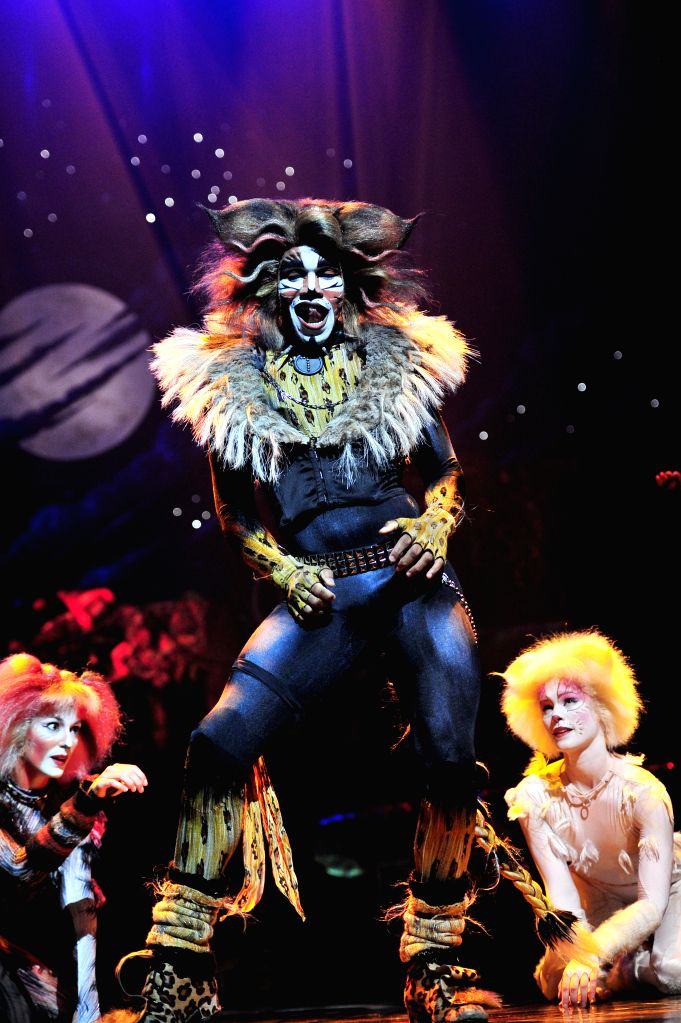 """Performers perform during the musical """"Cats"""" at Singapore's Marina Bay Sands Theatre, Jan. 13, 2015. Marina Bay Sands Theatre held a media preview of ..."""