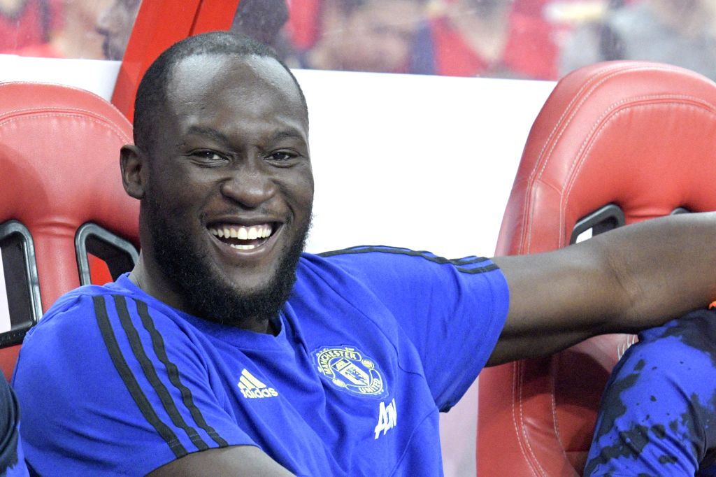 SINGAPORE, July 20, 2019 - Romelu Lukaku of Manchester United reacts before an International Champions Cup soccer match between Manchester United and Inter Milan at Singapore National Stadium in ...