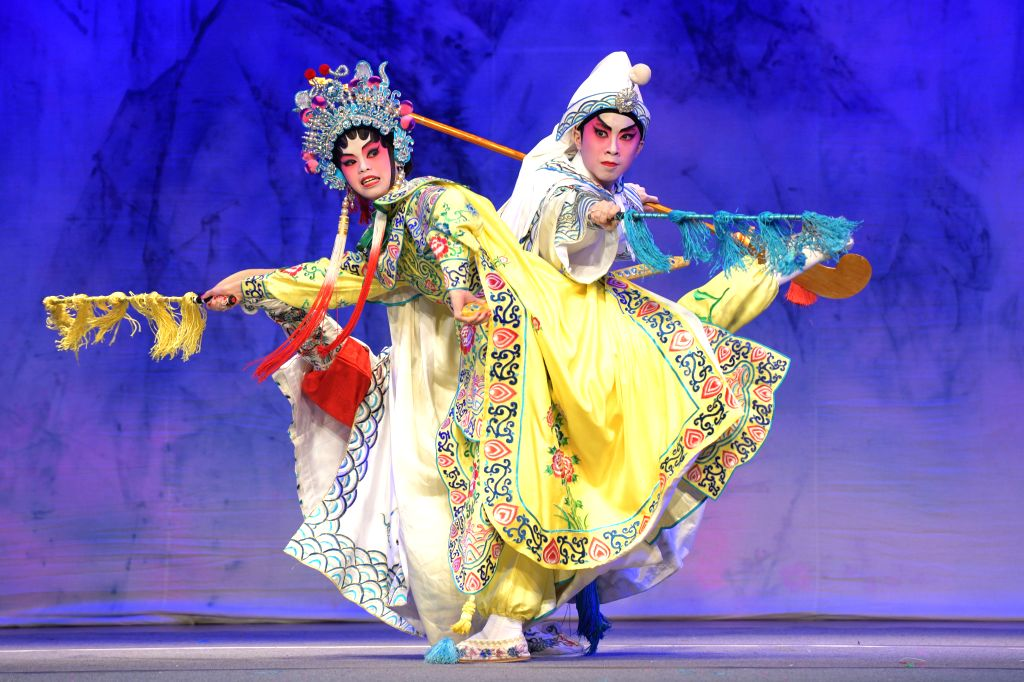 """SINGAPORE, July 27, 2019 - A Cantonese opera performance is staged by the Sing Fei Cantonese Opera Promotion Association of China's Hong Kong at the """"Young Voices Celebrate Singapore - Cantonese ..."""