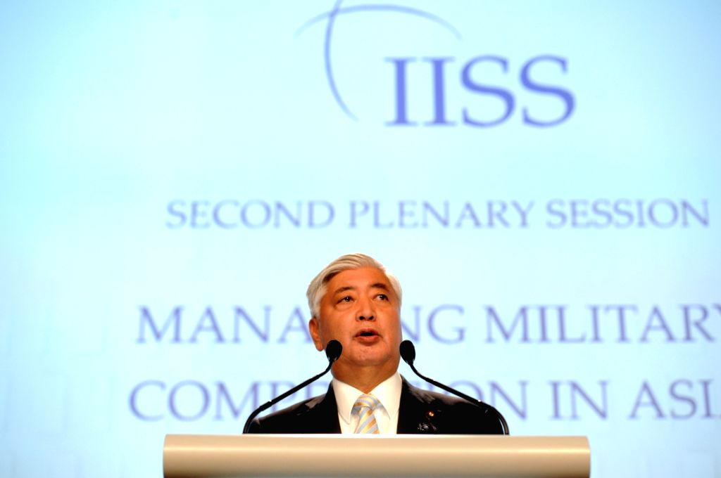 SINGAPORE, June 4, 2016 - Japanese Defense Minister Gen Nakatani attends the 15th Shangri-La Dialog in Singapore, June 4, 2016. The 15th Shangri-La Dialog enters the second day in Singapore on ... - Gen Nakatani