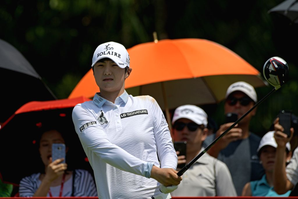 SINGAPORE, March 3, 2019 - Park Sung Hyun of South Korea competes during the fourth round match of the HSBC Women's World Championship held at Singapore's Sentosa Golf Club on March 3, 2019.