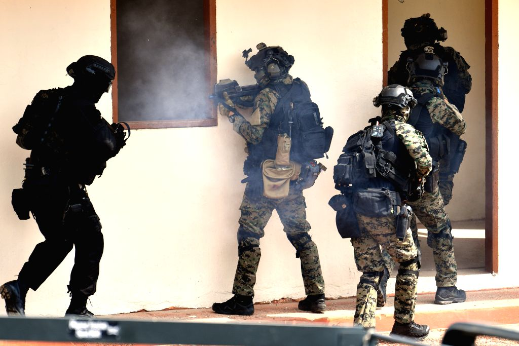 SINGAPORE, May 9, 2016 - Multinational counter-terrorism teams take down the terrorist hideout during the ASEAN Defence Ministers' Meeting Plus Maritime Security and Counter Terrorism (ADMM-Plus MS ...