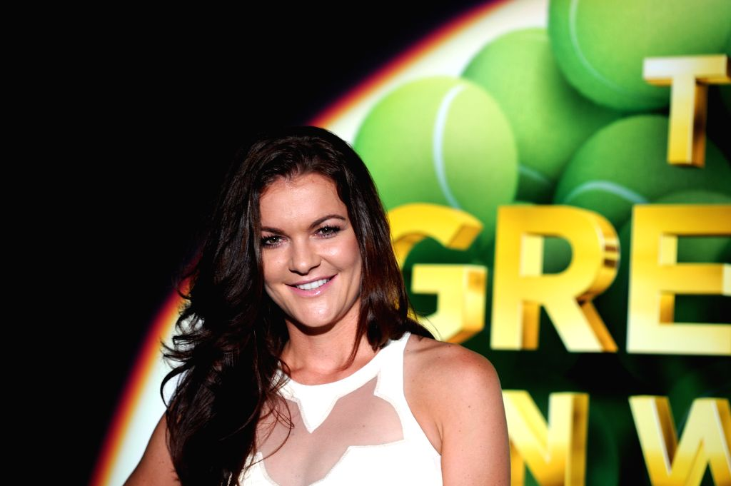 SINGAPORE, Oct. 21, 2016 - Agnieszka Radwanska of Poland attends the WTA Finals singles draw ceremony at the Marina Bay Sands in Singapore, Oct. 21, 2016. The WTA Finals 2016 will be held in ...