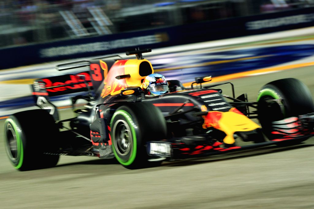 SINGAPORE, Sept. 17, 2017 - Red Bull Racing Tag Heuer's Australian Daniel Ricciardo drives during the Formula One Singapore Grand Prix in Singapore on Sept. 17, 2017.