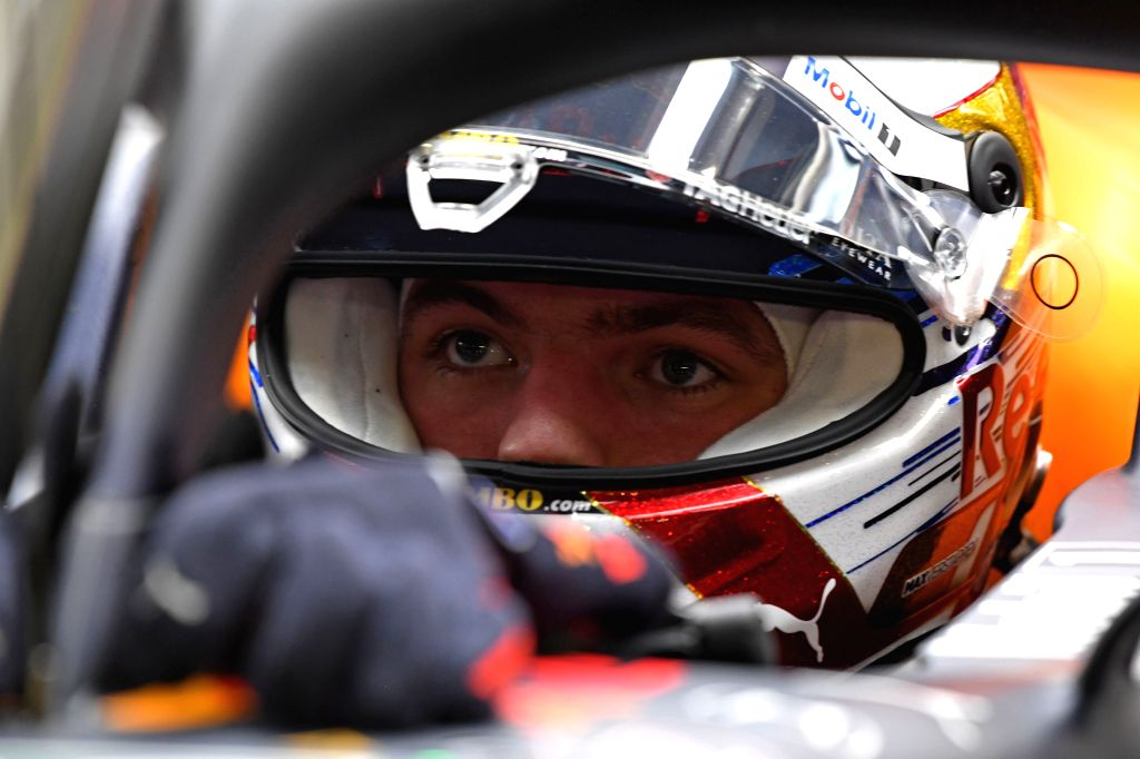 SINGAPORE, Sept. 21, 2019 - Dutch driver Max Verstappen of Red Bull waits in the pit during the second practice session of the Formula One Singapore Grand Prix held at the Marina Bay Street Circuit ...