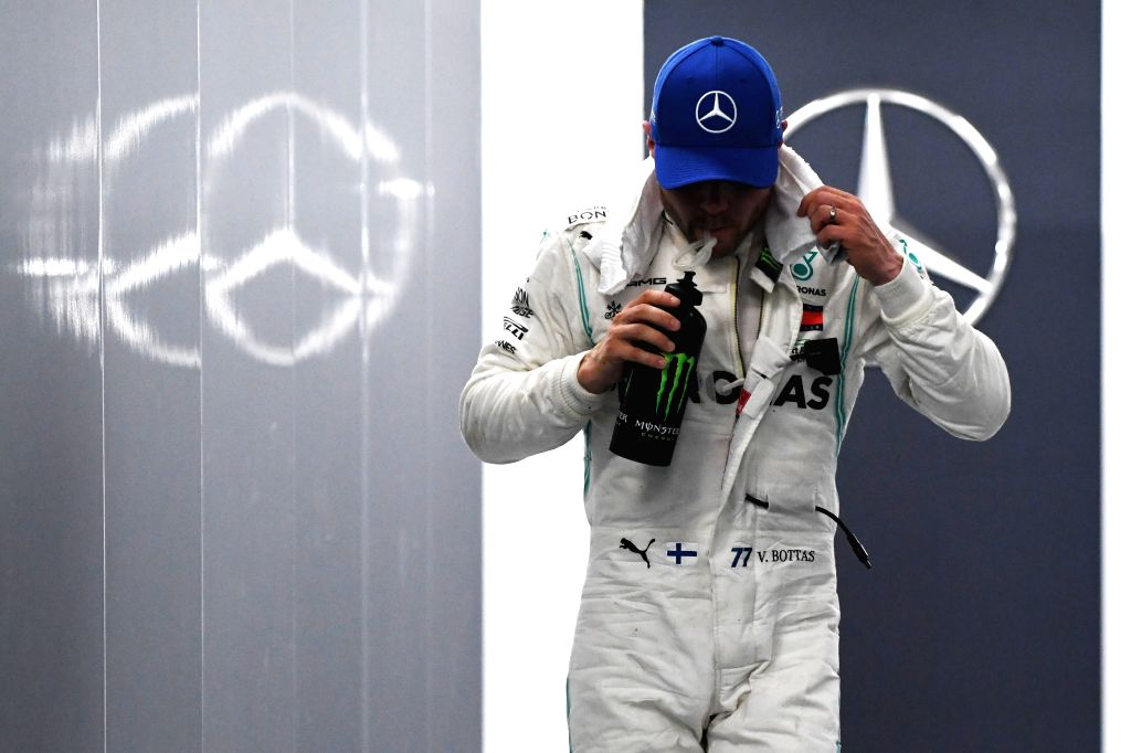SINGAPORE, Sept. 21, 2019 - Finnish driver Valtteri Bottas of Mercedes leaves the pit building after the second practice session of the Formula One Singapore Grand Prix held at the Marina Bay Street ...
