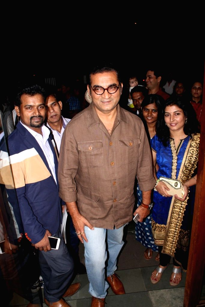 Singer Abhijeet Bhattacharya during the inauguration of an international art exhibition of paintings and sculptures by 50 artists, in Mumbai, on Nov 27, 2016.