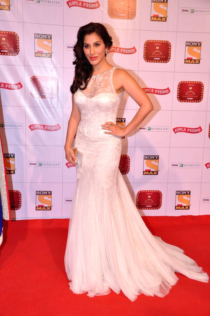 Singer-actress Sophie Chaudhary at the red carpet of Stardust Awards at Jan 26 in Mumbai. - Sophie Chaudhary