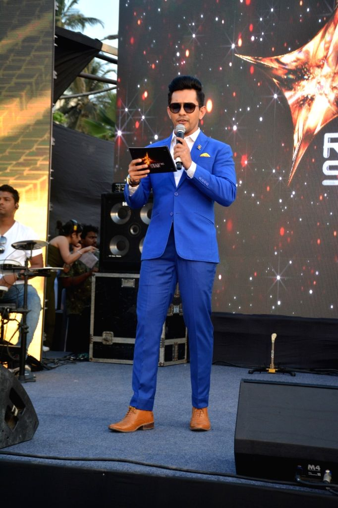 """Singer Aditya Narayan at the launch of third edition of live singing reality show """"Rising Star"""" in Mumbai, on March 13, 2019."""