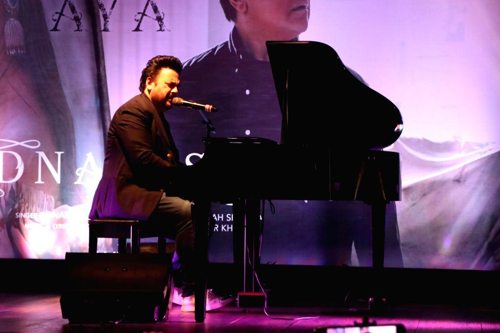 Singer Adnan Sami performs at the launch of his music album 'Tu Yaad Aya' in Mumbai on Feb 10, 2020. - Adnan Sami