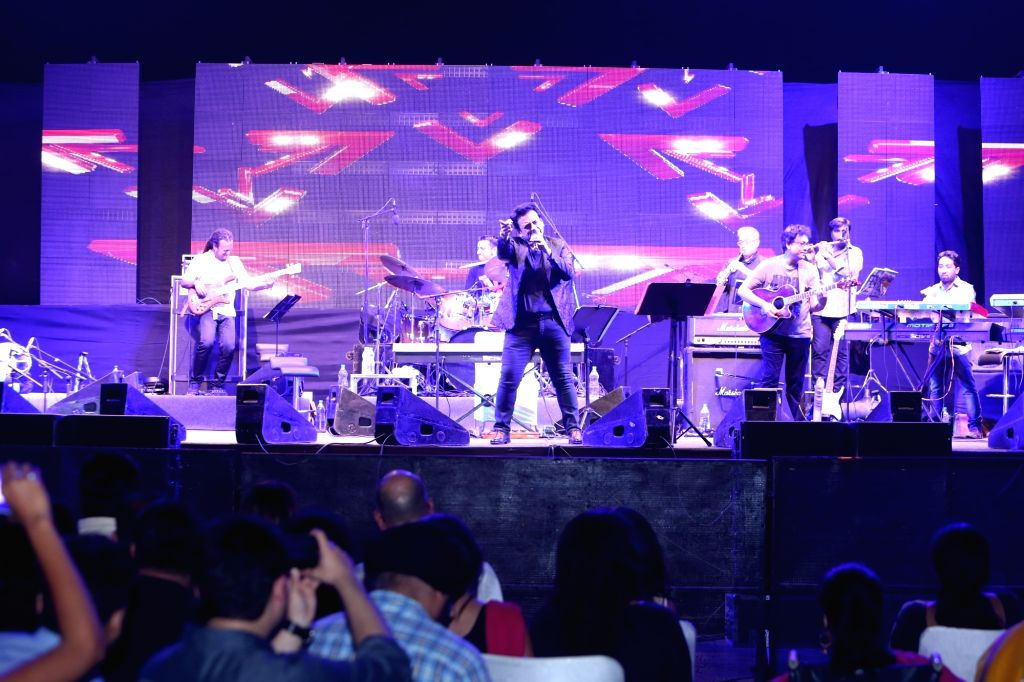 Singer Adnan Sami performs during a programme in Noida on July 2, 2016. - Adnan Sami