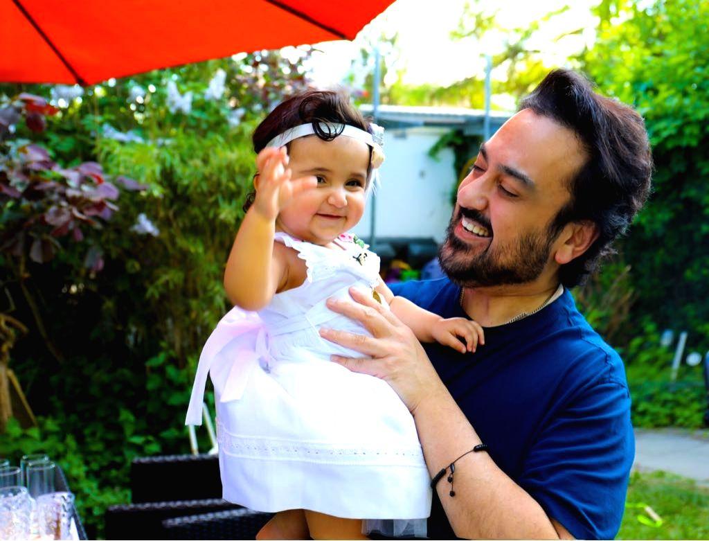 Singer Adnan Sami with family. - Adnan Sami