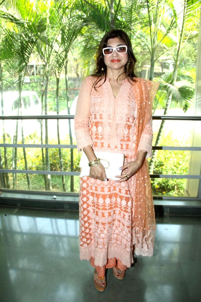 Singer Alka Yagnik during the inauguration of `Celebrate Cinema` festival organised by Whistling Woods International in Mumbai on May 17, 2014.
