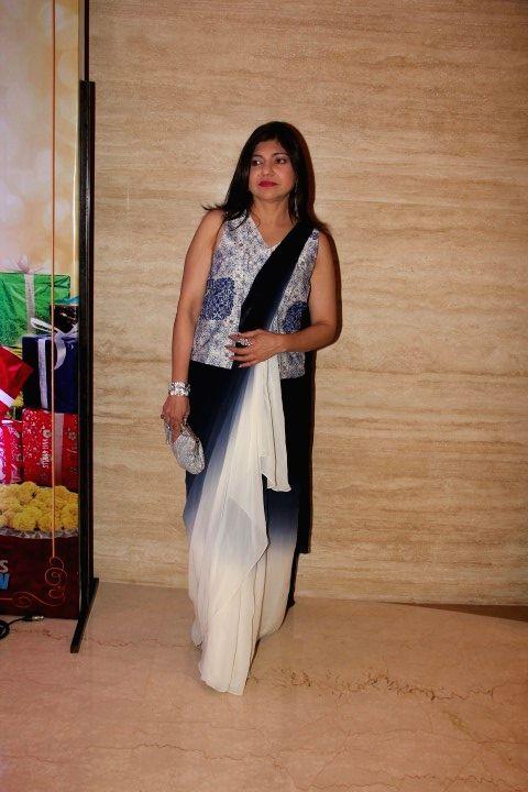 Singer Alka Yagnik during the trailer launch of film Wedding Pullav, in Mumbai, on Aug 17, 2015.