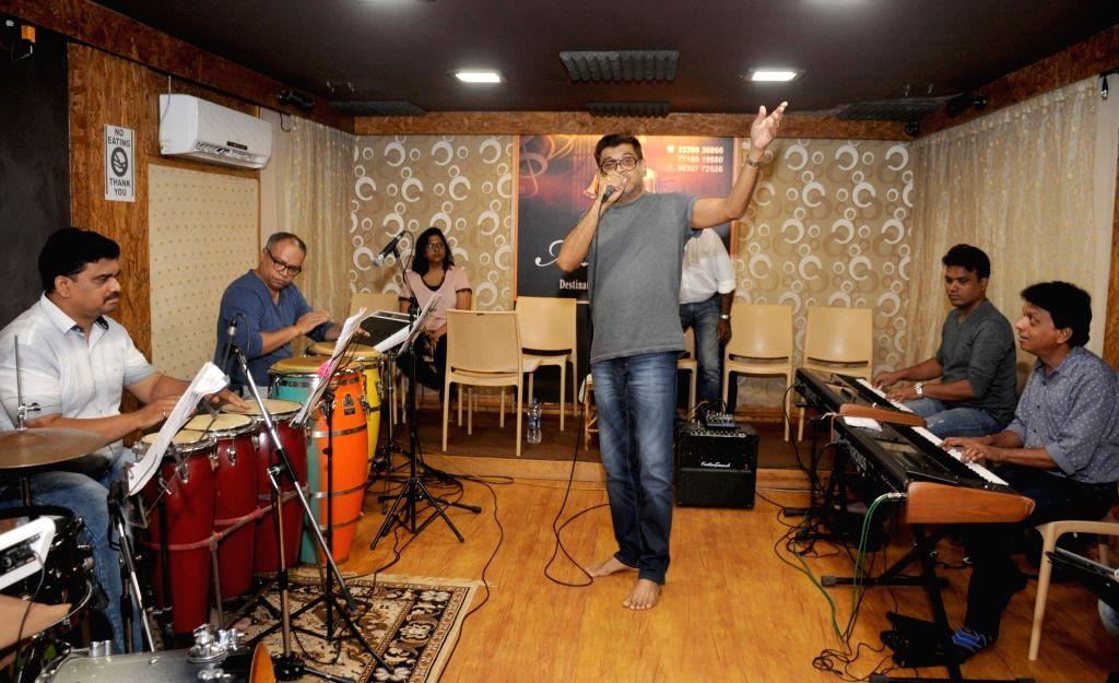 Singer Amit Kumar during a jam session, in Mumbai on June 9, 2018. - Amit Kumar