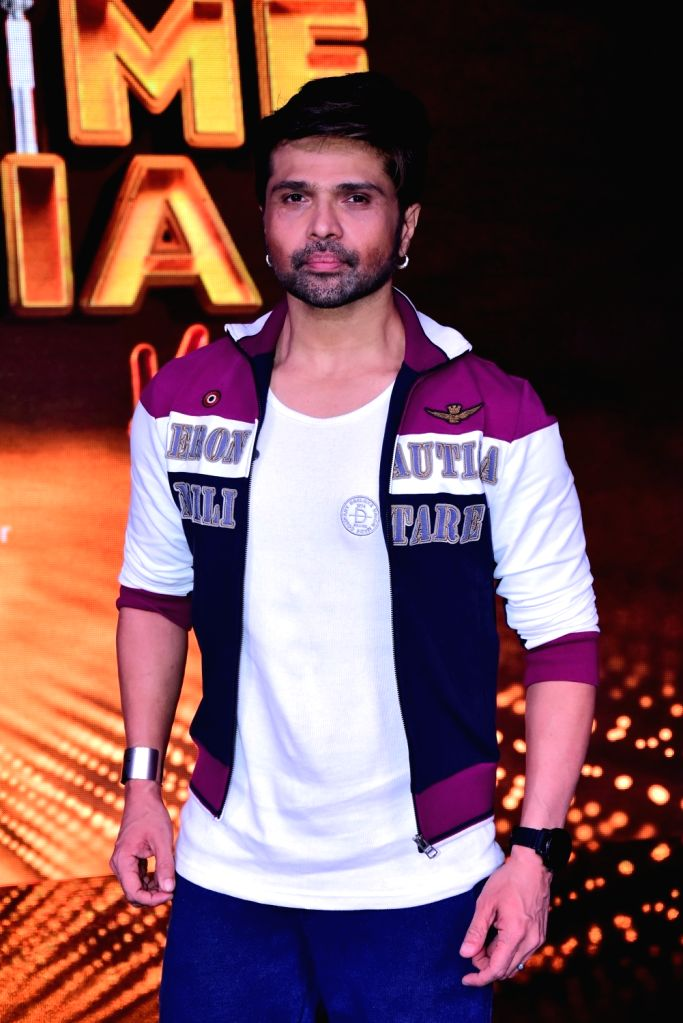 """Singer and judge of singing reality television show for kids """"Love Me India"""" Himesh Reshammiya on the sets of the show, in Mumbai on Sept 15, 2018."""