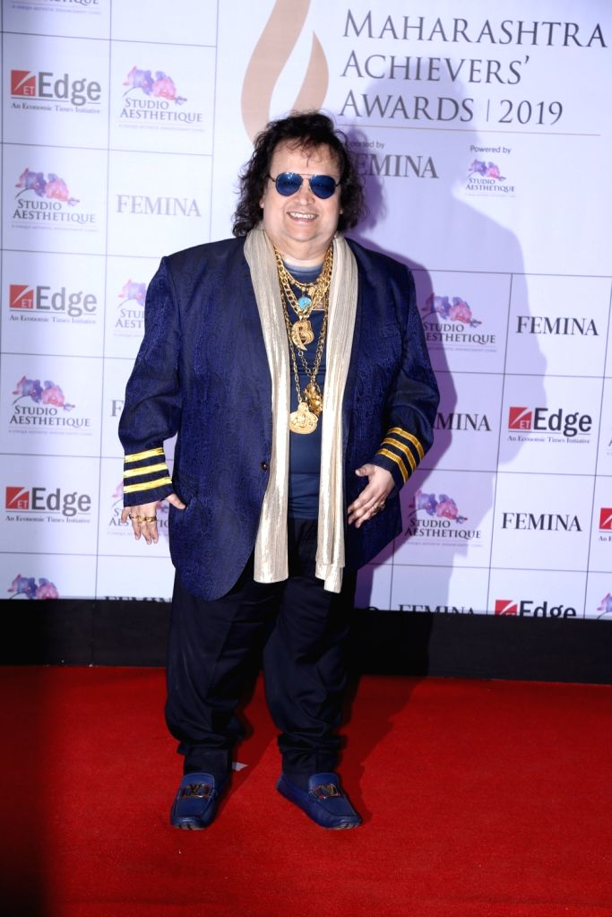 Singer and music composer Bappi Lahiri at Maharashtra Achievers' Awards 2019 in Mumbai, on March 14, 2019.
