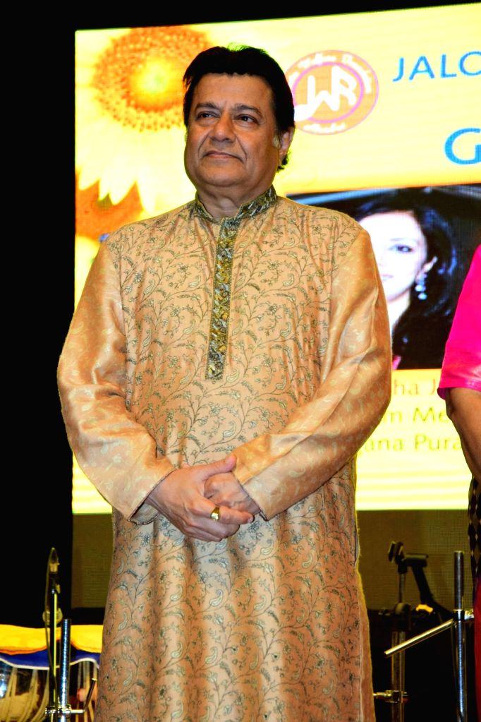 Singer Anup Jalota during the annual Glory Awards 2016, in Mumbai, on Jan 19, 2016.