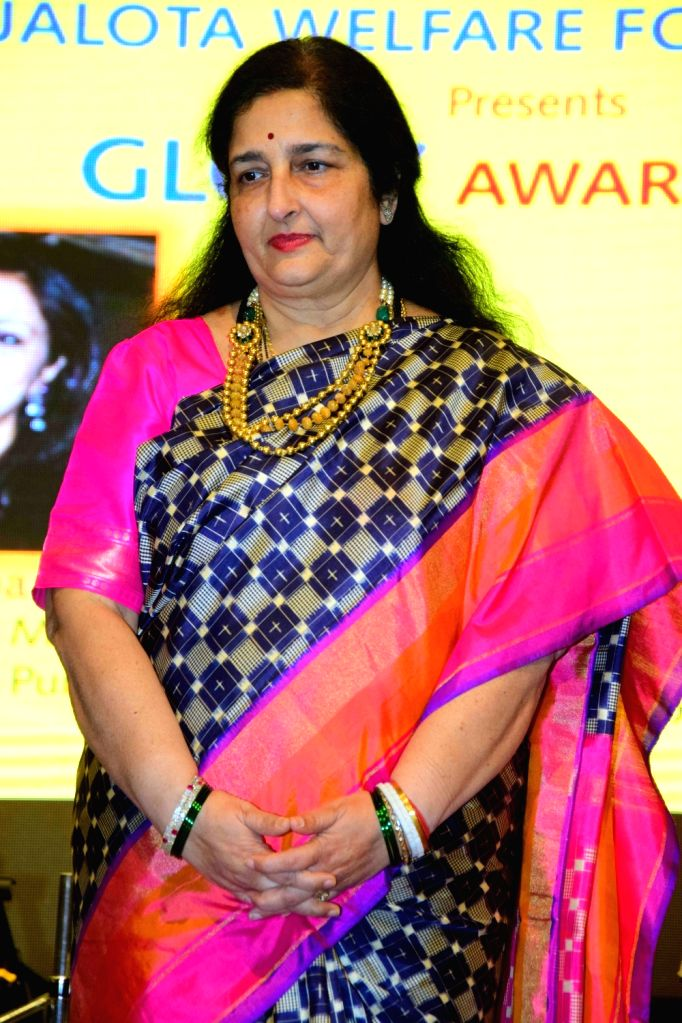 Singer Anuradha Paudwal during the annual Glory Awards 2016, in Mumbai, on Jan 19, 2016.