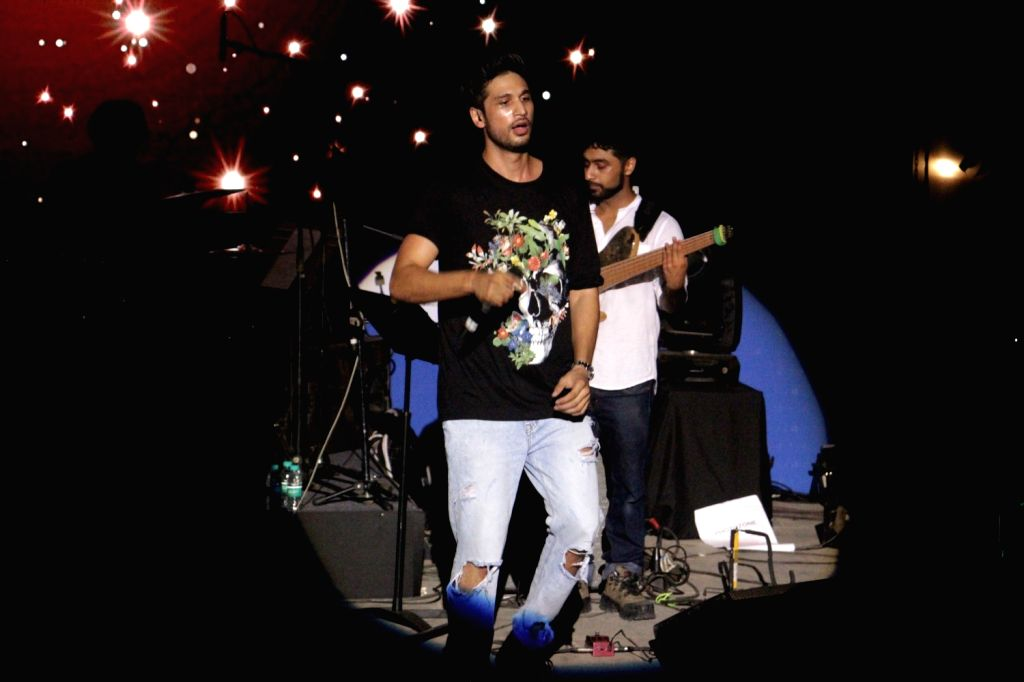 Singer Arjun Kanungo during film Meri Pyaari Bindu music concert in Mumbai on May 6, 2017.