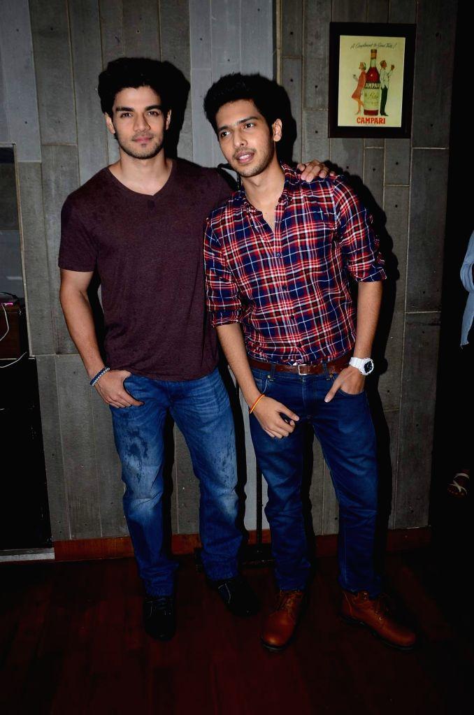 Singer Armaan Malik with actor Sooraj Pancholi during his birthday party in Mumbai, on July 22, 2015. - Sooraj Pancholi