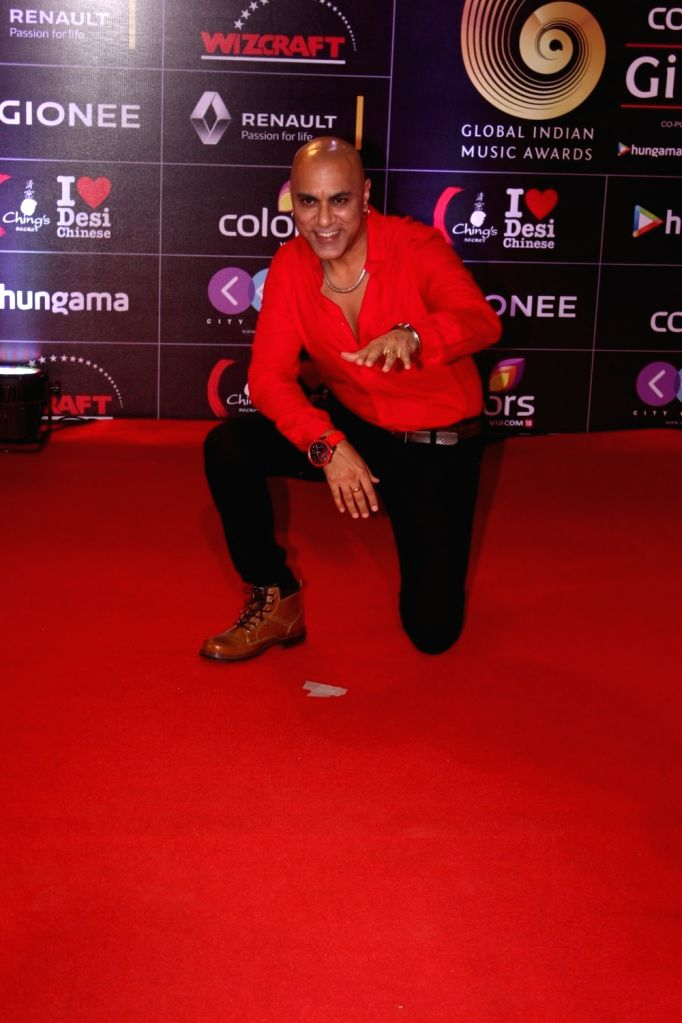 Singer Baba Sehgal during the 6th edition of the GiMA Awards 2016 in Mumbai on April 1, 2016