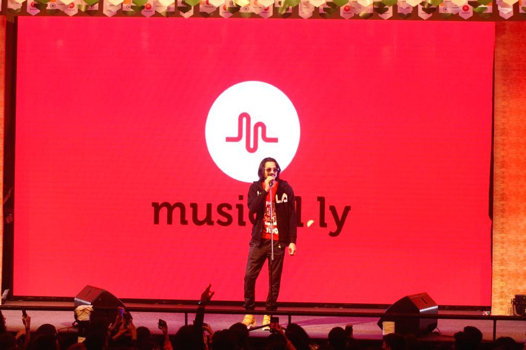 Singer Bhuvan Bam at musical Ly Fest in Mumbai on Feb 10, 2018.