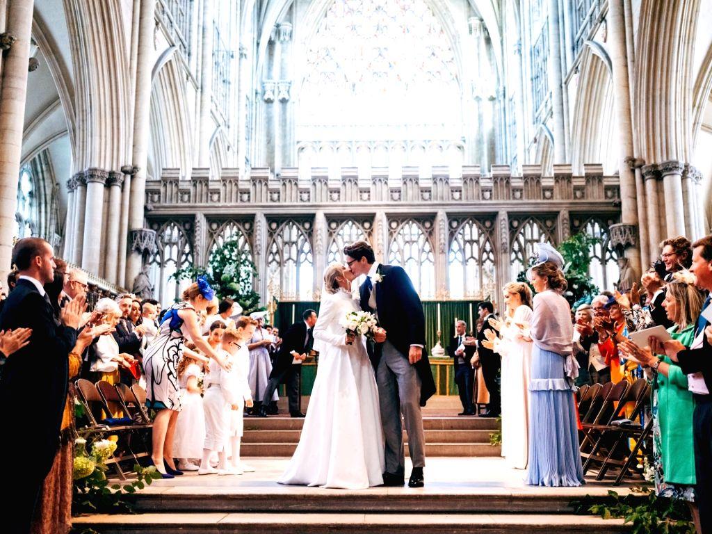 Singer Ellie Goulding broke her silence on her secret wedding with a heart-felt tribute to the 'love of her life' art dealer Caspar Jopling.