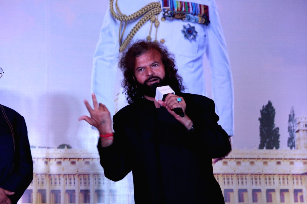 "Singer Hans Raj Hans at the music launch of forthcoming film ""Partition: 1947"" in Mumbai on July 4, 2017."