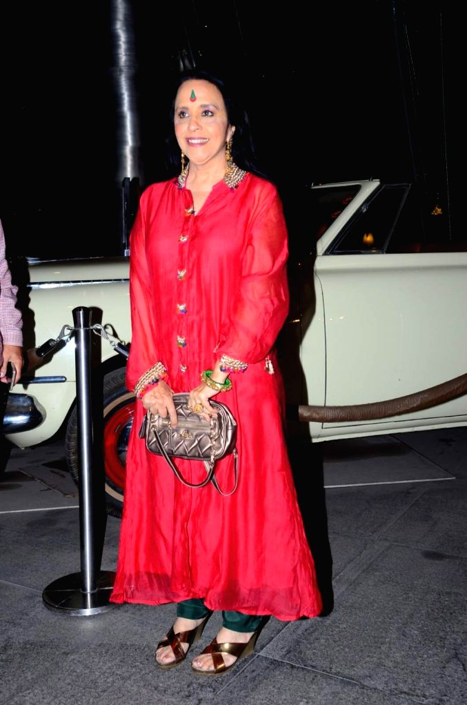 Singer Ila Arun during the birthday celebrations of actor Kabir Bedi in Mumbai, on Jan 16, 2016.