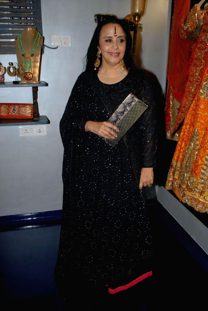 Singer Ila Arun during the store opening of designer Mayyur Girotra in Mumbai, on April 18, 2014.