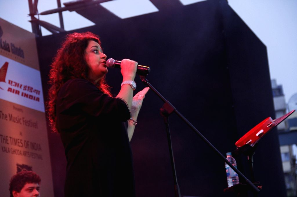 Singer Isheeta Ganguli at the The Kala Ghoda Arts Festival 2013 in Mumbai.