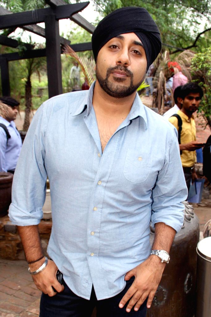Singer Jassi Sidhu during a press conference in New Delhi on July 3, 2014.
