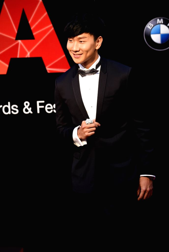 Singer JJ Lin poses on the red carpet as he arrives for the 26th Golden Melody Awards in Taipei, southeast China's Taiwan, June 27, 2015. (Xinhua/Wu Ching-teng/IANS) ...