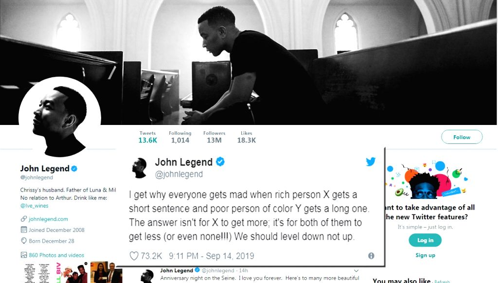 Singer John Legend opened up on prison sentences after actress Felicity Huffman got 14 days for her role in the college admission scandal. - Felicity Huffman