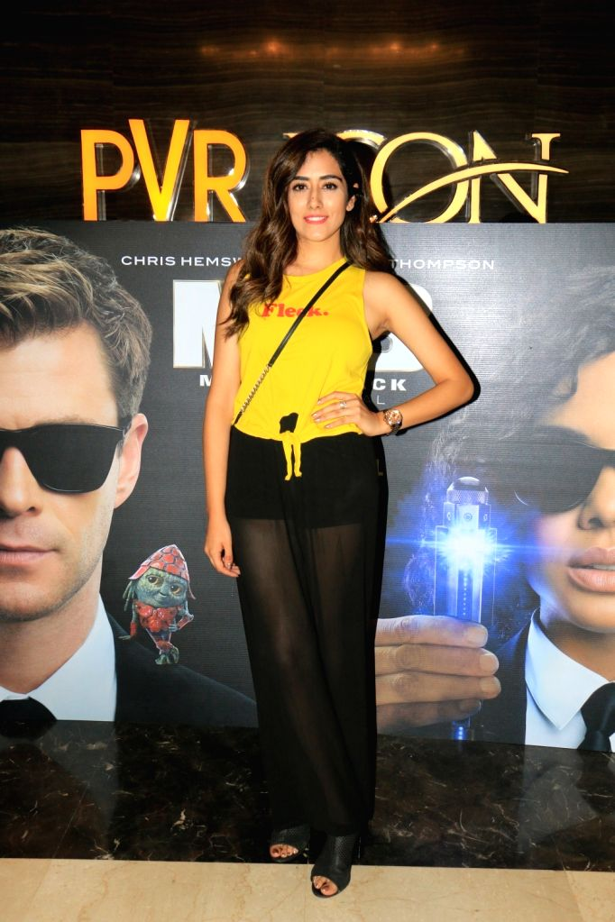 "Singer Jonita Gandhi at the screening of upcoming film ""Men in Black: International"", in Mumbai, on June 13, 2019. (Photo: IANS - Jonita Gandhi"