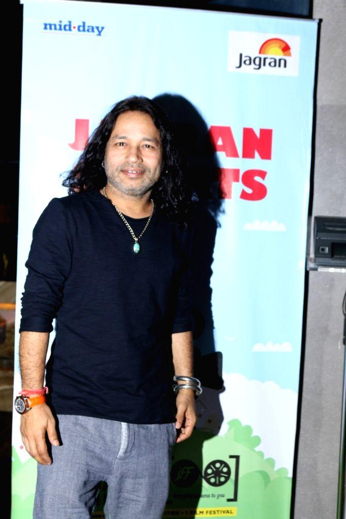 Singer Kailash Kher during the screening of short film `Mumbai Varanasi Express` in Mumbai, on Sept 27, 2016. - Kailash Kher
