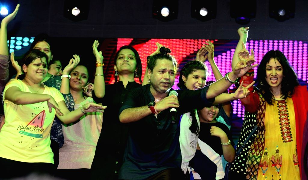 Singer Kailash Kher performs during a programme in Bhopal on June 30, 2016. - Kailash Kher