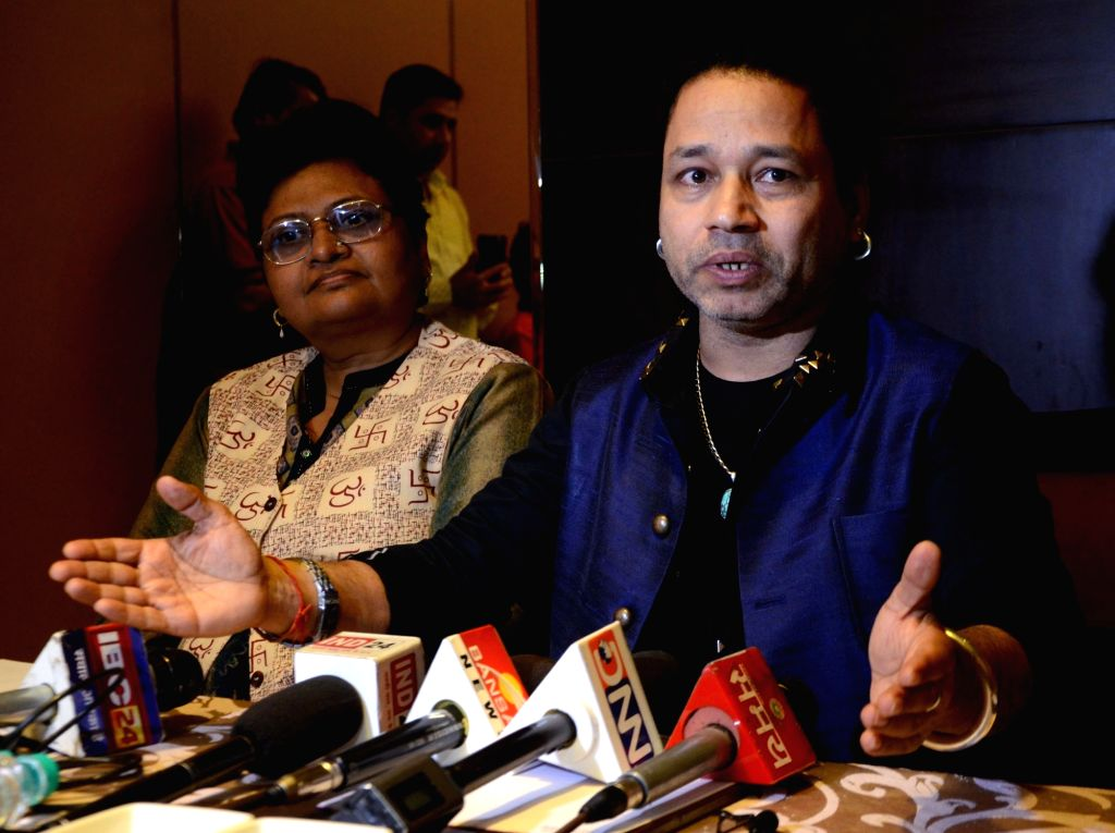 Singer Kailash Kher talks to the press ahead of Bhojpur Utsav in Bhopal on Feb 14, 2018. - Kailash Kher