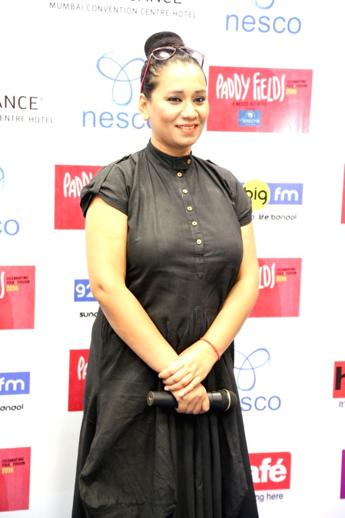Singer Kalpana Patauriduring the press conference of India's first ever Folk and Fusion music Festival - Paddy Fields, in Mumbai on Oct 12, 2016.