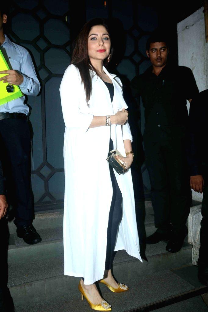 Singer Kanika Kapoor during the birthday party of Rohini Iyer, MD, Raindrop Media in Mumbai on Aug 10, 2016. - Kanika Kapoor