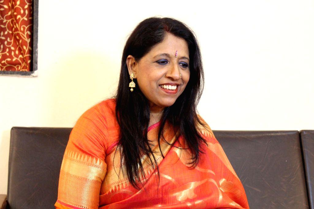 Singer Kavita Krishnamurty performs during the 25th Laxminarayana Global Music in Mumbai on Jan 13, 2017.
