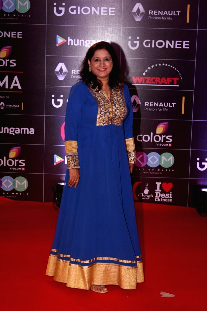 Singer Kavita Seth during the 6th edition of the GiMA Awards 2016 in Mumbai on April 1, 2016 - Kavita Seth