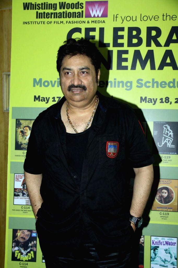 Singer Kumar Sanu during the inauguration of `Celebrate Cinema` festival organised by Whistling Woods International in Mumbai on May 17, 2014. - Kumar Sanu