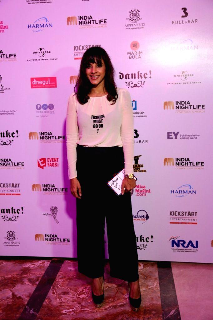 Singer Manasi Scott during the India Nightlife Convention Awards in Mumbai on Sept 26, 2016.