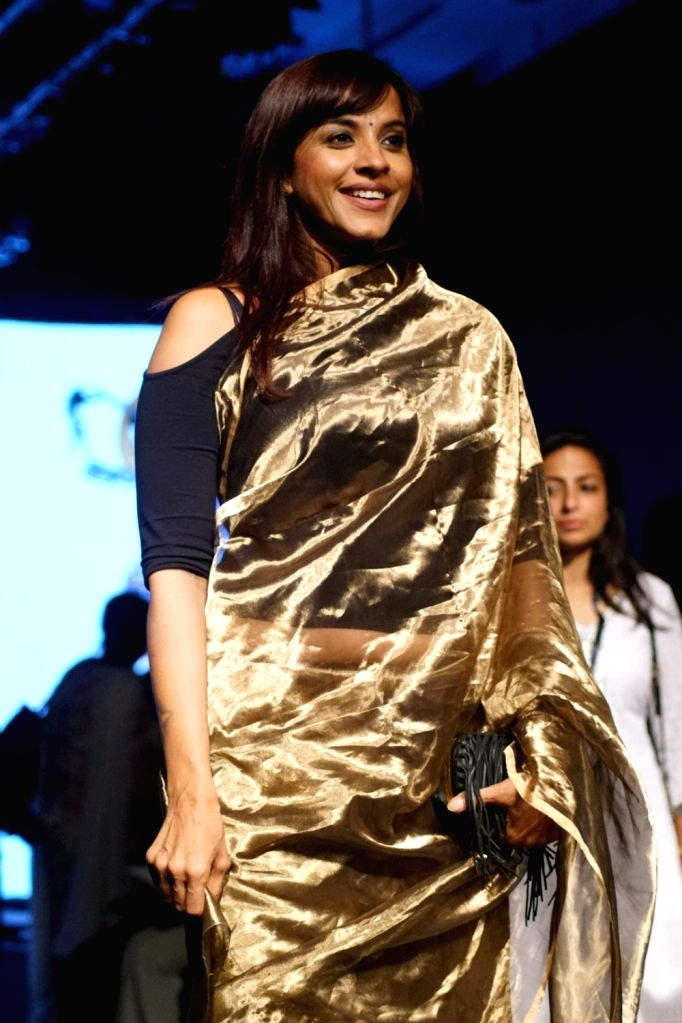Singer Manasi Scott during the Lakme Fashion Week Winter on Aug 17, 2017.