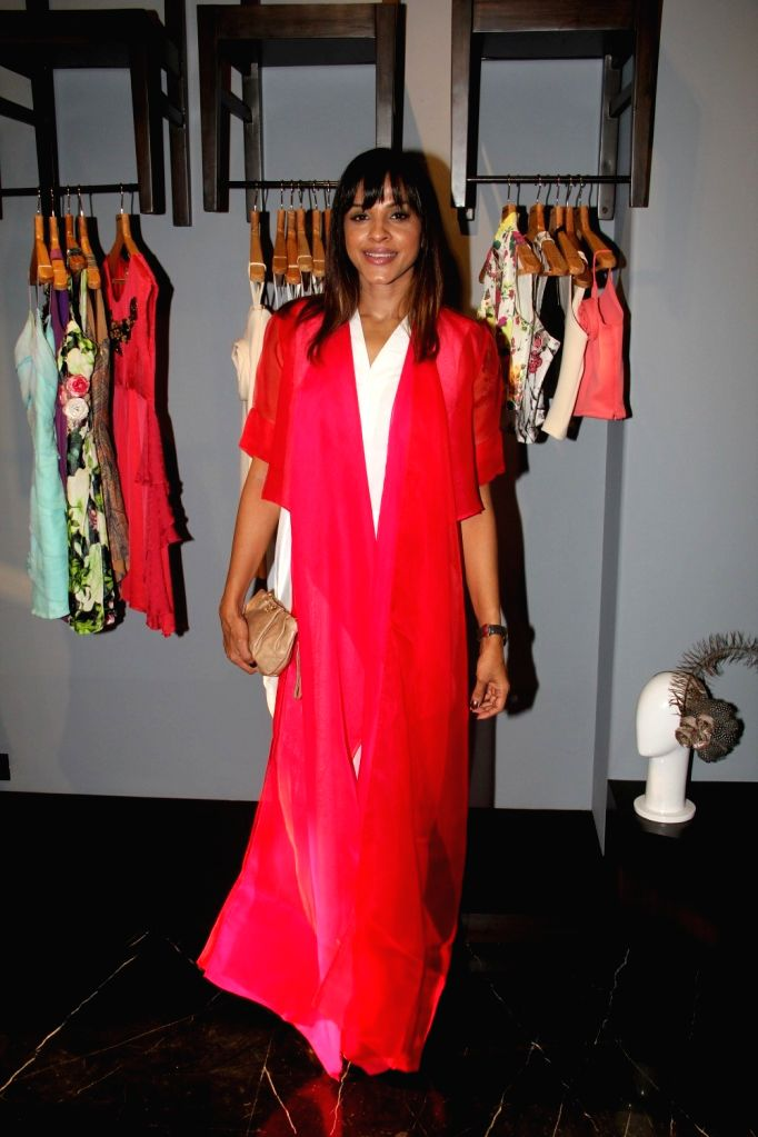 Singer Manasi Scott during the unveiling of Amy Billimoria`s Festive Autumn/Winter 2015 collection in Mumbai on Oct 14, 2015.