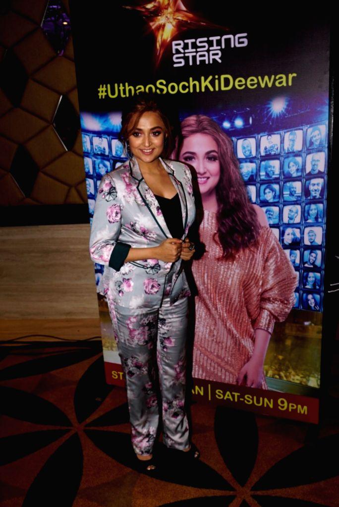 "Singer Monali Thakur during a press conference regarding her upcoming music reality show ""Rising Star 2"" in Mumbai on Jan 16, 2018."